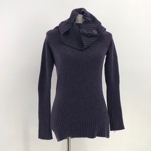 energie purple turtleneck sweater size XL